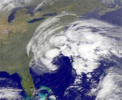 GOES satellite image