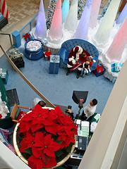 Looking Down at Santa Claus