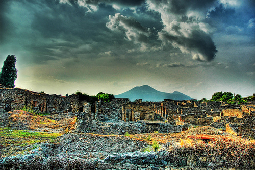 """The Ruins of Pompeii and Mount Vesuvius,"" by Stuck in Customs, on Flickr"