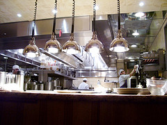 seated by the kitchen @ central by flickr user twobitme