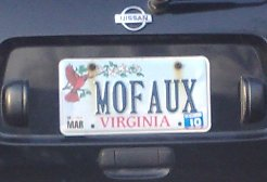 mofaux license plate