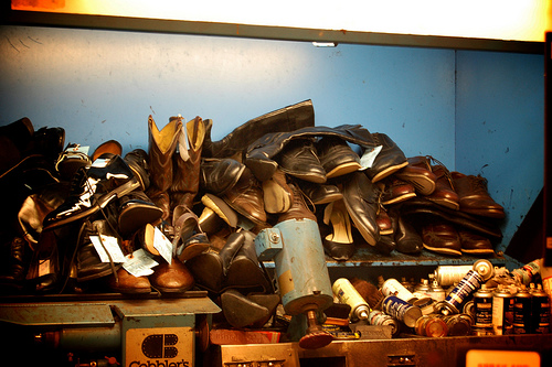 """shoe repair in metro"" by sacasterisk, on Flickr"