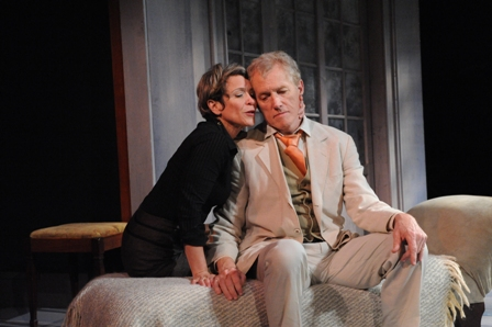 "Naomi Jacobson and Jerry Whiddon in ""The Seagull"" at Theater J. Photo credit: Stan Barouh"