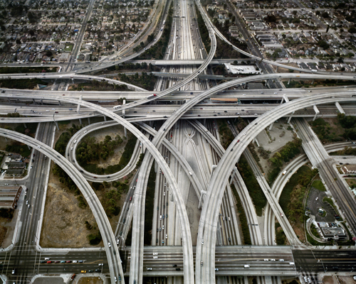 Highway #1, Intersection 105 & 110, Los Angeles, California, USA, 2003. Chromogenic color print. Photograph © Edward Burtynsky