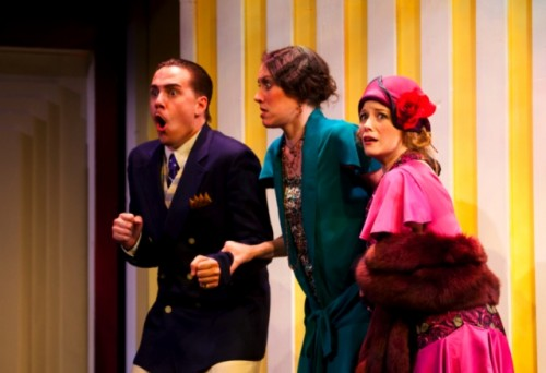 "Joe Brack, Katie Atkinson, and Heather Haney in ""A Flea in Her Ear,"" photo courtesy of Constellation Theatre Company"