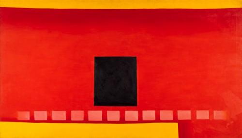 Black Door with Red, 1954.