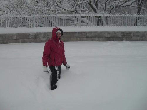 Pedestrian (Me) Butt-Deep in Snow