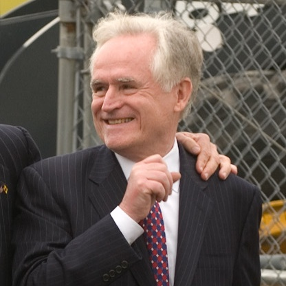 Richard Sarles at the groundbreaking of the Mass Transit Tunnel in June 2009. Courtesy former Gov. Jon Jon Corzine's office