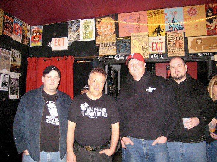 Jello Biafra with Marcus, Craig, and Michael Darpino