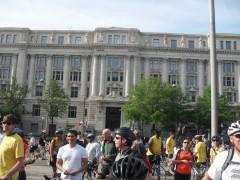 Bike to Work Pit Stop at Freedom Plaza