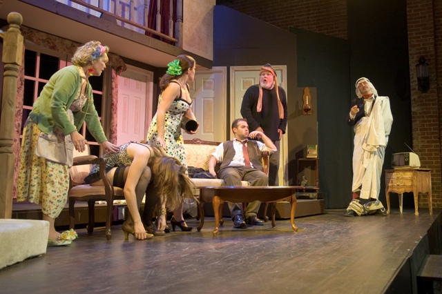 """The Keegan Theatre's production of """"Noises Off."""" Photo credit: Jim Coates Photography"""