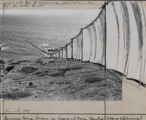Running Fence Project; photo courtesy Smithsonian American Art Museum