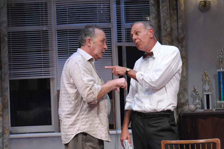 """Rick Foucheux and J. Fred Shiffman in Theater J's """"The Odd Couple."""" Photo credit: Stan Barouh."""