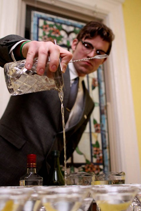 JP Fetherton pours a martini. Photo credit: Elba Giron. Courtesy of the DC Craft Bartenders Guild.
