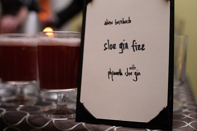 Adam Bernbach's Sloe Gin Fizz. Photo credit: Elba Giron. Courtesy of the DC Craft Bartenders Guild.