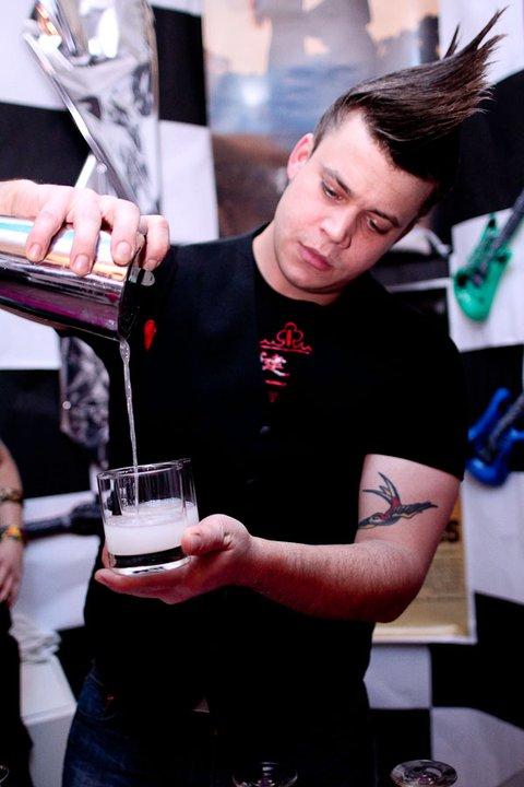 Jason XXX rocks the 1980's. Photo credit: Elba Giron. Courtesy of the DC Craft Bartenders Guild.