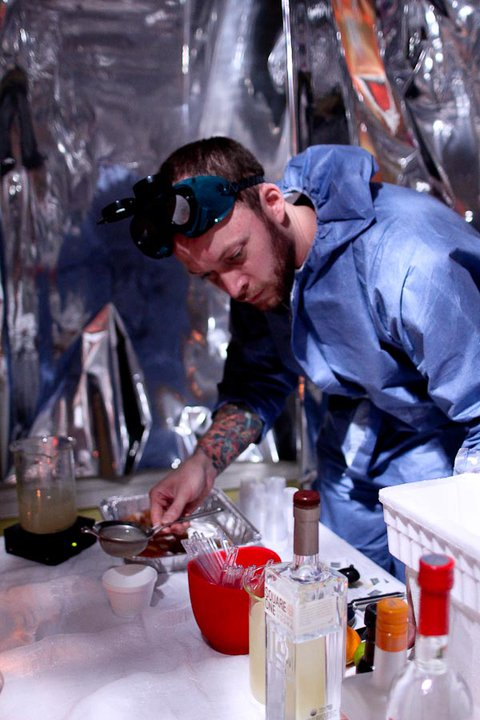 Owen Thomson mixes up the future. Photo credit: Elba Giron. Courtesy of the DC Craft Bartenders Guild.