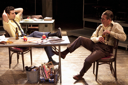 (l to r) Daniel Eichner as Baby and Scot McKenzie as Mickey. Photo credit: Scott Suchman.