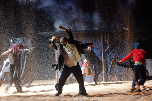 Irakli Kavsadze in Synetic Theater's production of King Lear. Photo credit: Graeme B. Shaw.