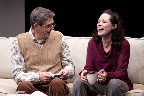 Jeff Allin as Peter and Colleen Delany as Ann in the Arena Stage at the Mead Center for American Theater production of At Home at the Zoo March 4 – April 24, 2011. Photo by Scott Suchman.
