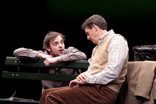 James McMenamin as Jerry and Jeff Allin as Peter in the Arena Stage at the Mead Center for American Theater production of At Home at the Zoo March 4 – April 24, 2011. Photo by Scott Suchman.