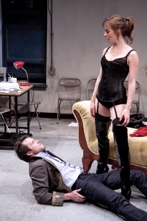 Christian Conn and Erica Sullivan in Venus in Fur, directed by David Muse at the Studio Theatre. Photo credit: Scott Suchman.