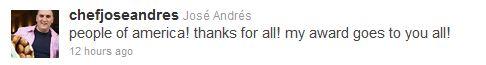 Jose Andres JBFA Tweet