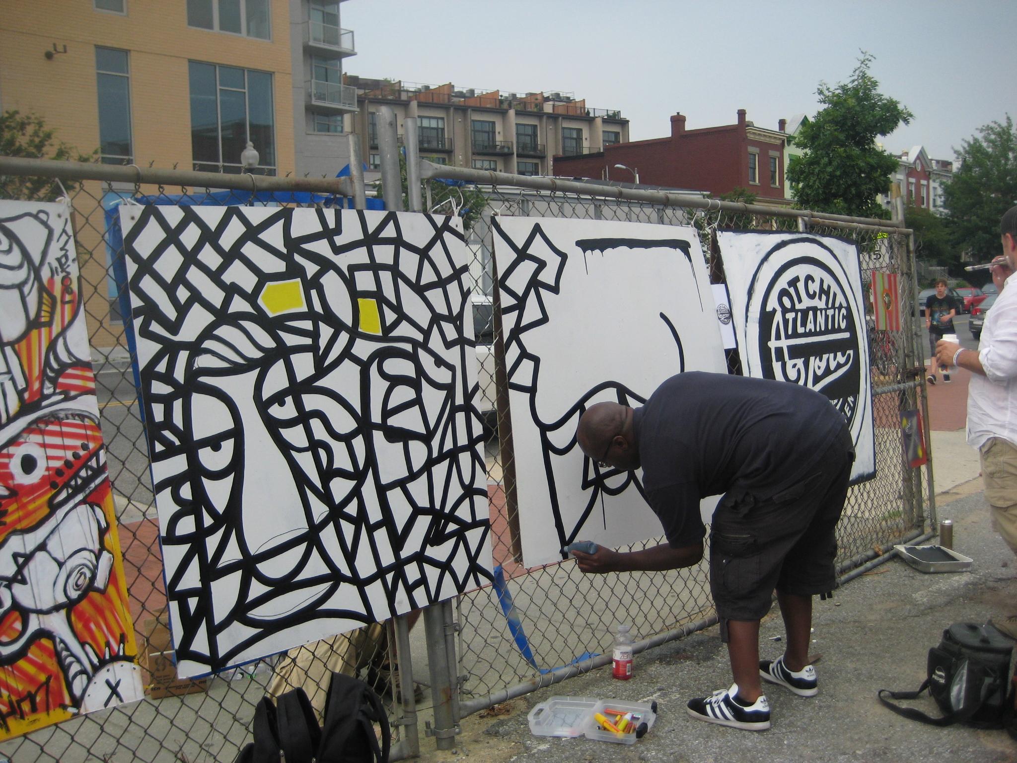 Art Whino Artist at Artapalooza -- Marker Art