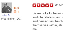 John Wilkes Booth on Yelp