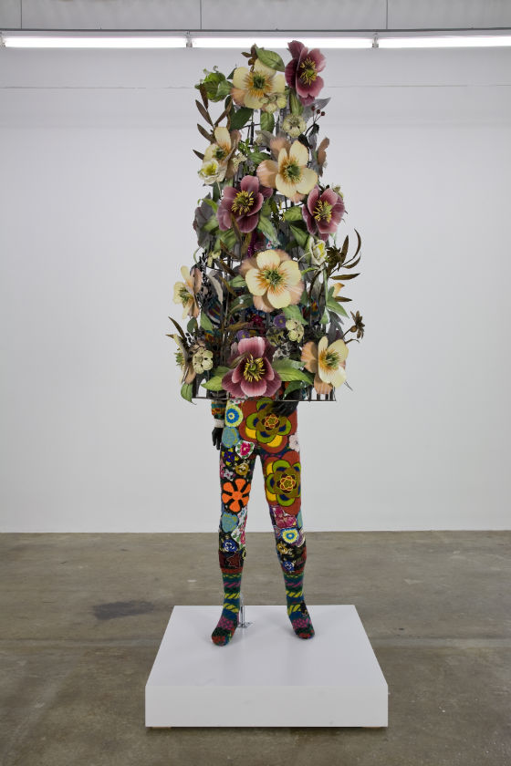 Nick Cave, Soundsuit, 2008. Fabric, fiberglass, and metal, 102 x 36 x 28 inches. Courtesy of Rubell Family Collection, Miami.