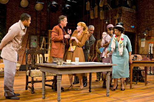 The cast of the Arena Stage at the Mead Center for American Theater production of Trouble in Mind. Photo by Richard Anderson.
