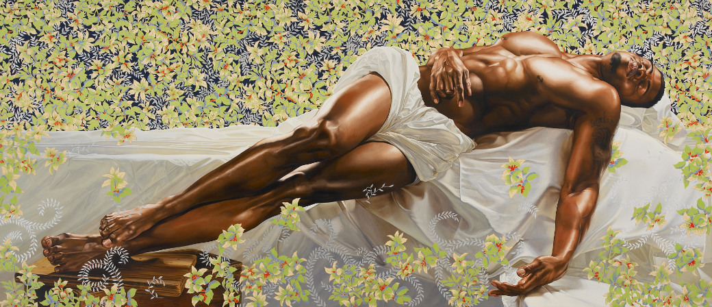 Kehinde Wiley, Sleep, 2008. Oil on canvas, 132 x 300 inches. Courtesy of Rubell Family Collection, Miami.
