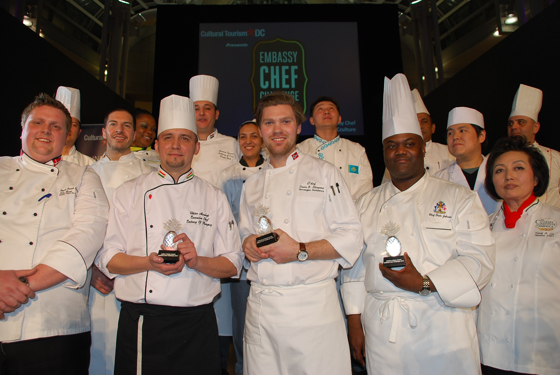 2012 Competing Embassy Chefs at Cultural Tourism DC's Embassy Chef Challenge. Photo by Don Tanguilig.