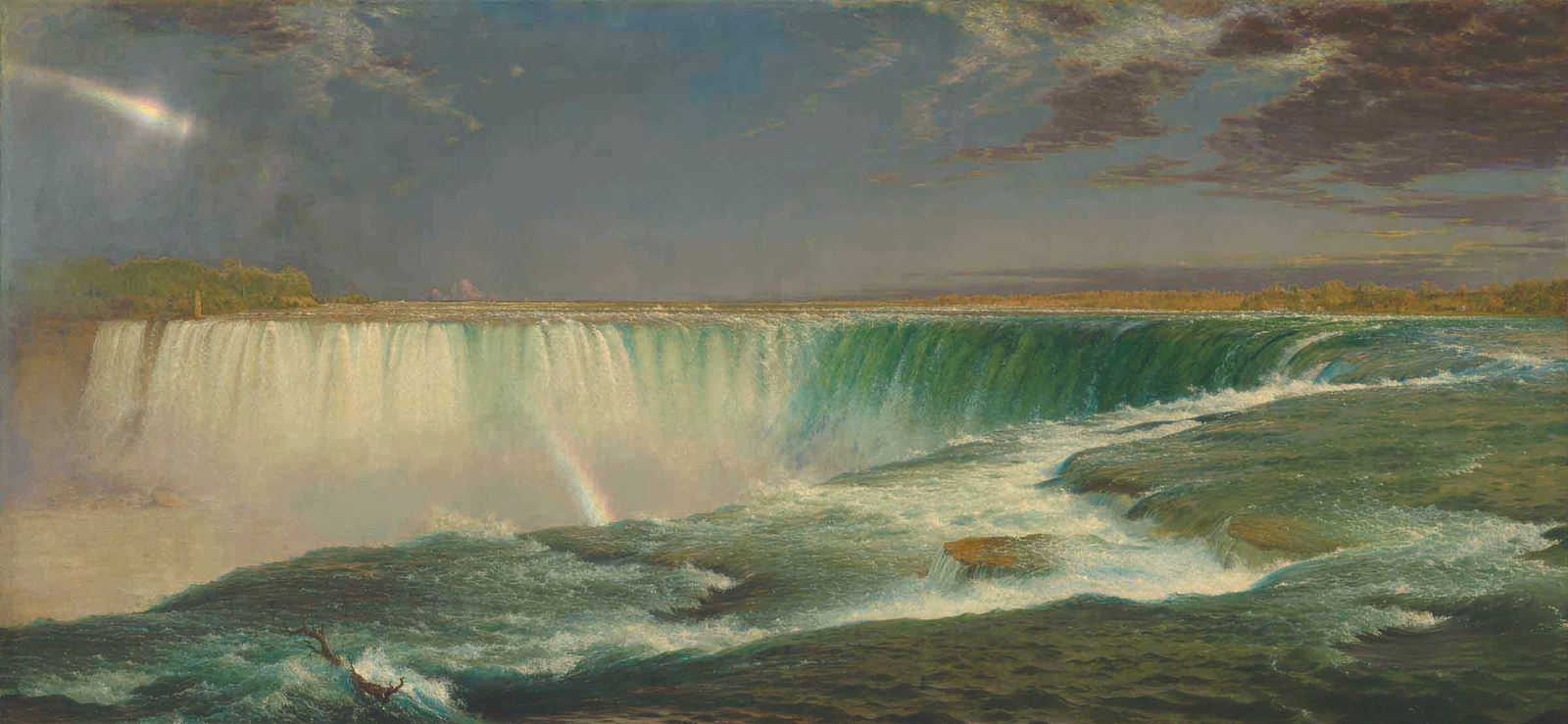 "Frederic Edwin Church, ""Niagara,"" 1857 oil on canvas 40 x 90 1/2 inches Corcoran Gallery of Art, Washington, DC Museum Purchase, Gallery Fund 76.15"