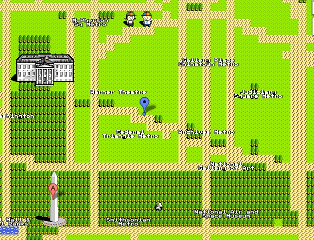 Google maps quest mode turns dc into zelda we love dc google maps quest mode turns dc into zelda gumiabroncs Choice Image