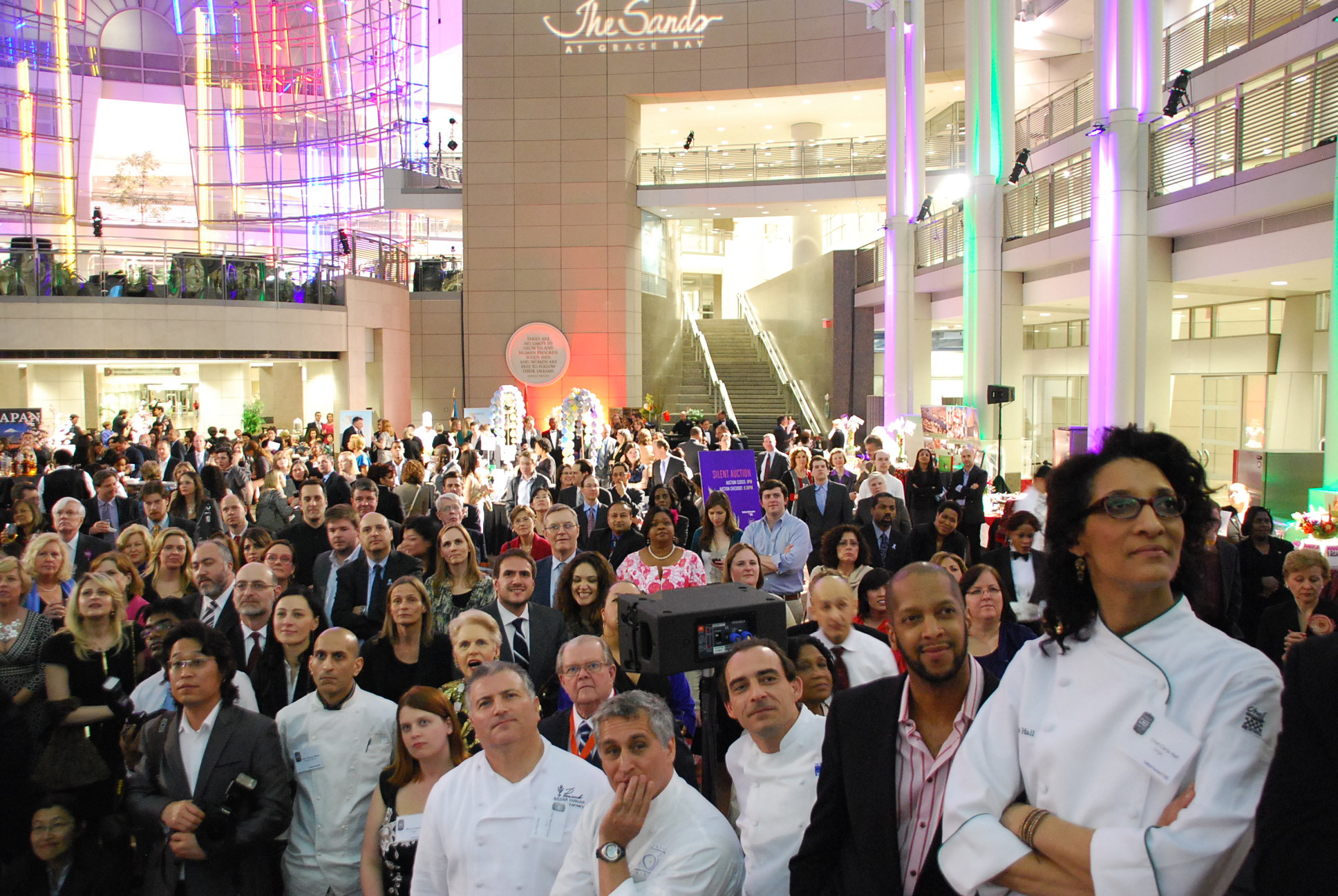 The crowd awaiting the winner announcement at Cultural Tourism DC's Embassy Chef Challenge. Photo by Don Tanguilig