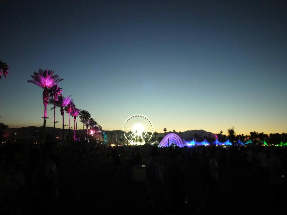 Coachella at night, photo by Martin Silbiger