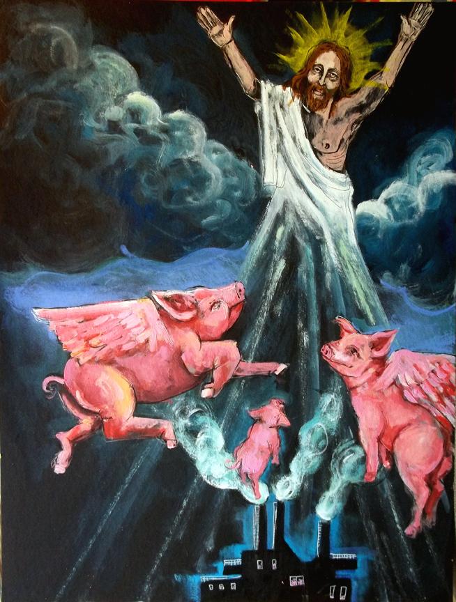 yesus raja segala babi di bumi Fridge-savior