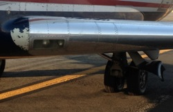 Plane sinks into DCA Tarmac