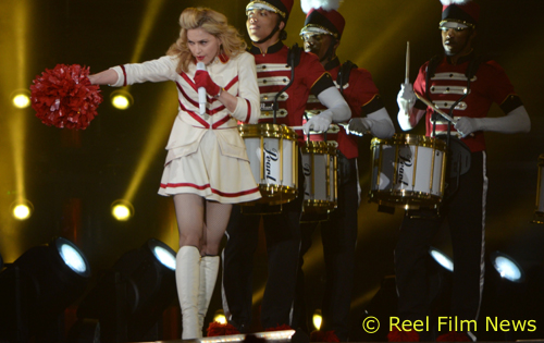Madonna and the Majorettes. Copyright and Courtesy Bill Ayres, Reel Film News