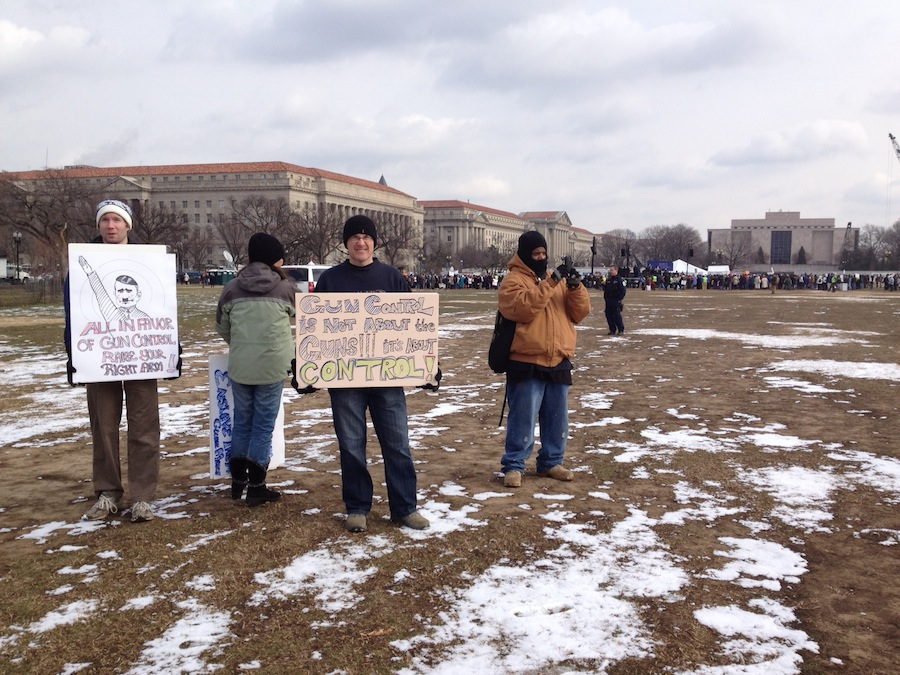 counter protest distance