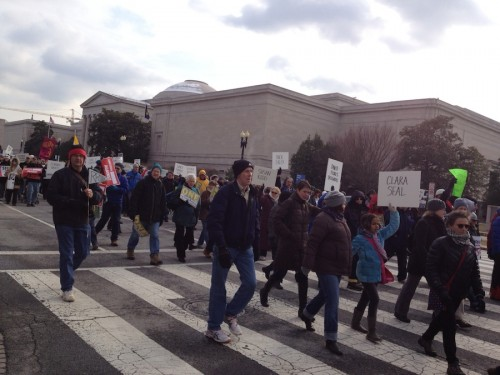Marchers at DC gun protest