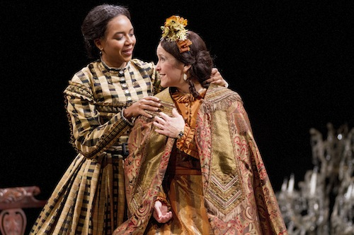 Sameerah Luqmaan-Harris and Naomi Jacobson in Arena Stage at the Mead Center for American Theater's production of Mary T. & Lizzy K. Photo credit:  Scott Suchman.