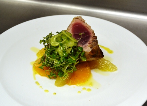 Yellowfin tuna and citrus salad- 1789