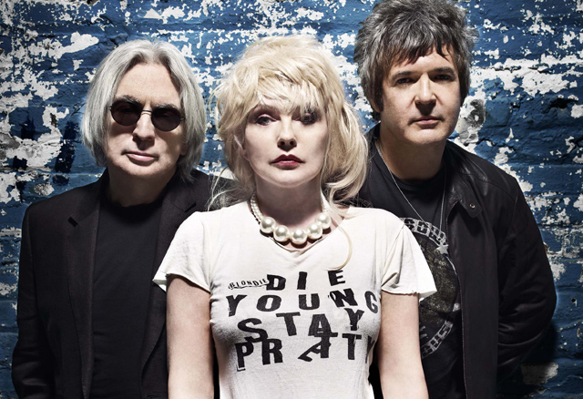 Chris Stein, Debbie Harry and Clem Burke (Photo courtesy of Press Here)