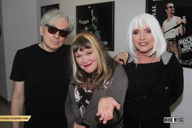 Chris Stein, Exene Cervenka and Debbie Harry (Photo by Mark Weiss)