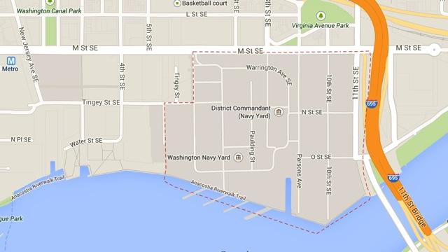 Navy Yard Area Map