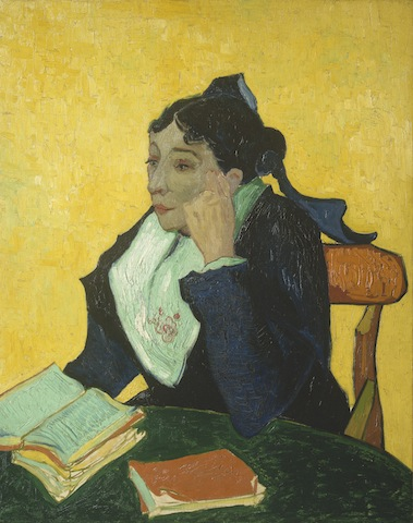 Vincent van Gogh, L'Arlésienne (Madame Joseph-Michel Ginoux),1888–89. Oil on canvas, 36 x 29 in.The Metropolitan Museum of Art, New York.Bequest of Sam A. Lewisohn, 1951