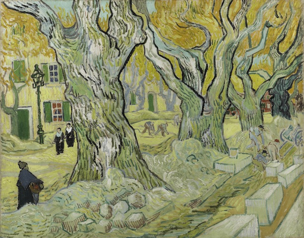 Vincent van Gogh, The Road Menders, 1889. Oil on canvas, 29 x 36 1/2 in. The Phillips Collection, Washington, DC. Acquired 1949