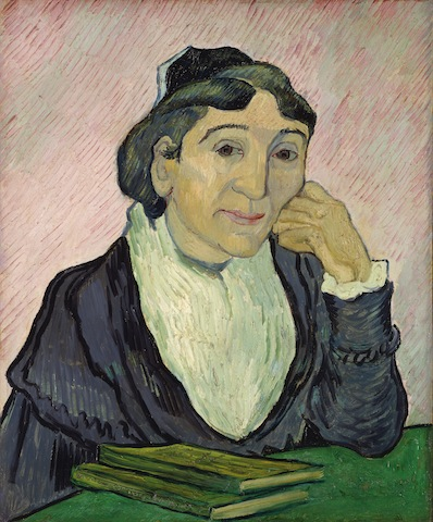 Vincent van Gogh, L'Arlesienne,1890.Oil on canvas,23 5/16 x 19 3/4in.Rome, National Gallery of Modern Art. By permission of Ministero dei Beni, delle Attività Culturalie del Turismo